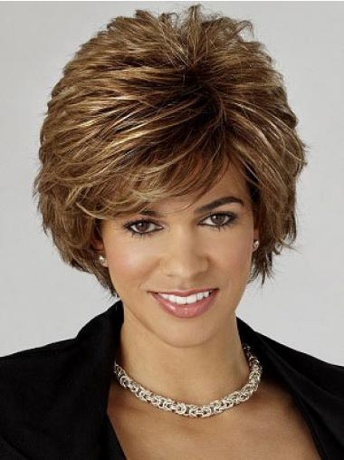 Wavy Brown Layered Discount Classic Wigs