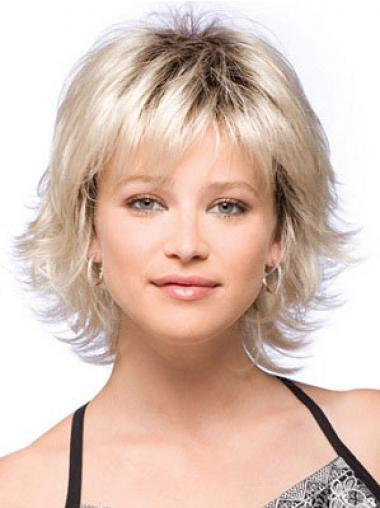Blonde With Bangs Synthetic New Synthetic Wigs