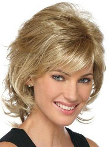 Wavy Blonde Layered Beautiful Classic Wigs