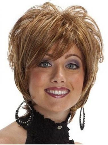 Brown Layered Synthetic Top Synthetic Wigs