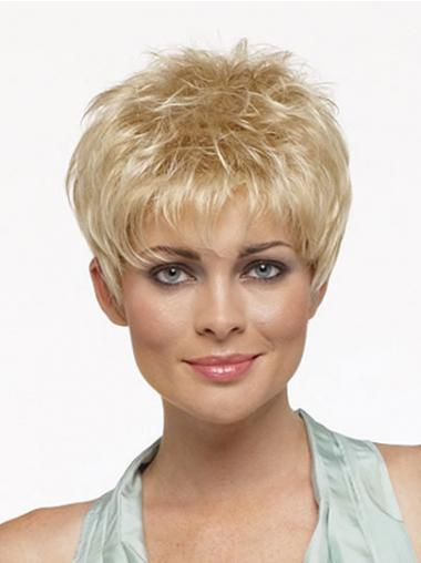 Blonde Boycuts Synthetic Modern Synthetic Wigs