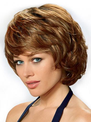 Auburn Layered Wavy High Quality Classic Wigs
