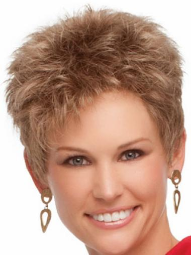 Blonde Boycuts Wavy Perfect Synthetic Wigs