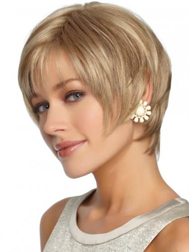 Blonde Layered Straight Perfect Synthetic Wigs