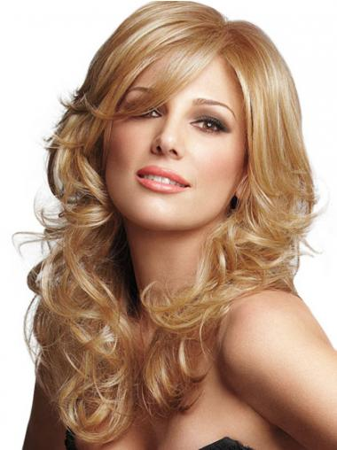 Curly Blonde Lace Front Durable Long Wigs