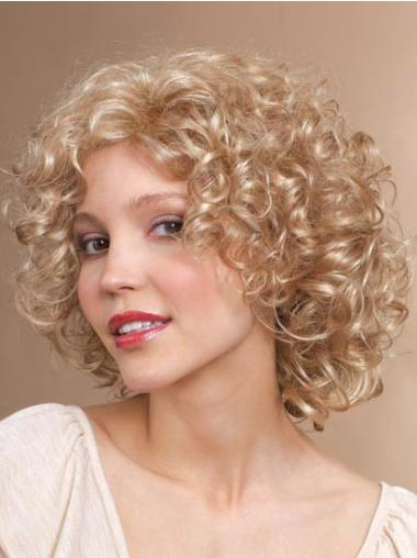 Blonde Classic Curly Cheapest Synthetic Wigs