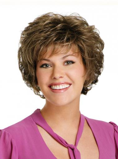 Brown Classic Curly Cheapest Classic Wigs