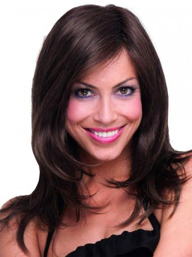 Brown Layered Straight Style Synthetic Wigs