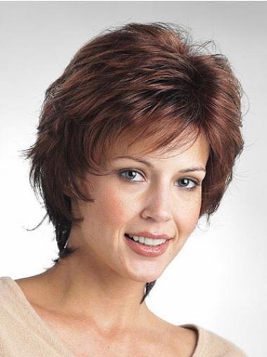 Brown Layered Wavy Great Classic Wigs