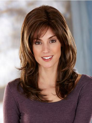 Brown Layered Wavy Style Synthetic Wigs