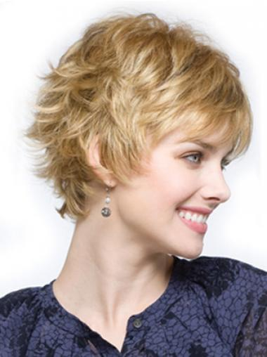Blonde Layered Wavy Popular Synthetic Wigs