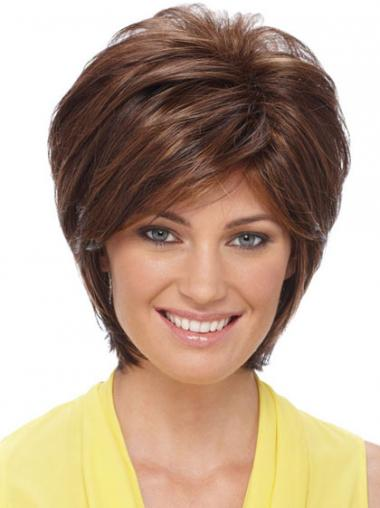 Auburn Layered Straight Online Synthetic Wigs