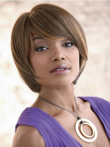 Brown Bobs Straight Hairstyles Synthetic Wigs