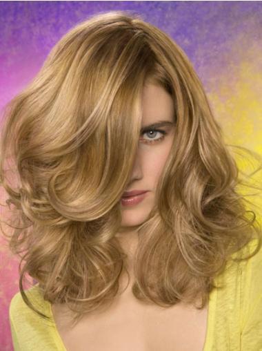 Blonde Synthetic Wavy Fabulous Medium Wigs