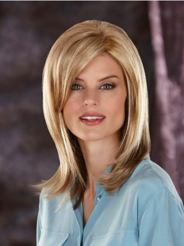 Straight Blonde With Bangs Fashion Synthetic Wigs