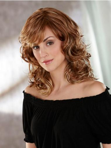 Wavy Brown Layered Cheapest Classic Wigs