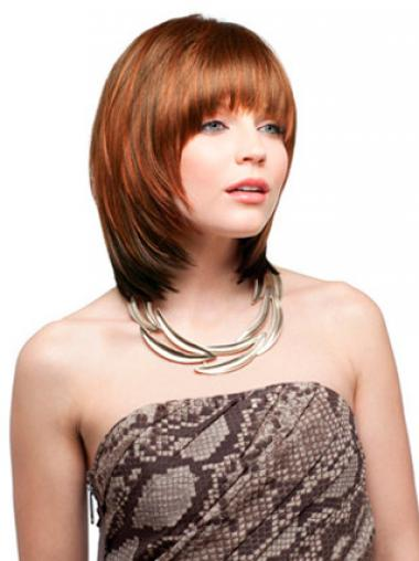 With Bangs Auburn Straight Amazing Synthetic Wigs