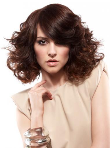 Auburn Layered Curly Suitable Medium Wigs