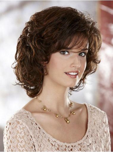 Brown Layered Curly Ideal Classic Wigs