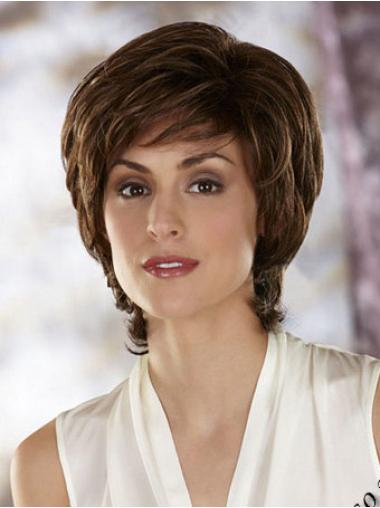 Brown Layered Wavy Popular Classic Wigs