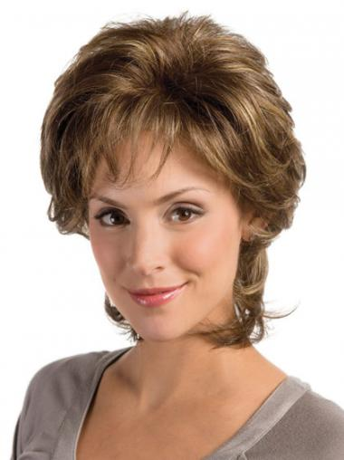 Wavy Brown Layered Flexibility Classic Wigs