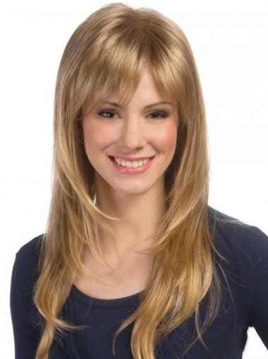 Blonde Wavy Layered Fashionable Long Wigs