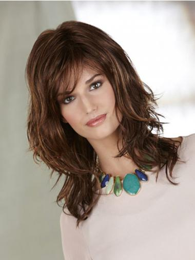 Auburn Layered Wavy Ideal Synthetic Wigs