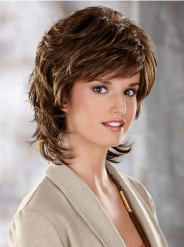 Brown Layered Wavy High Quality Classic Wigs