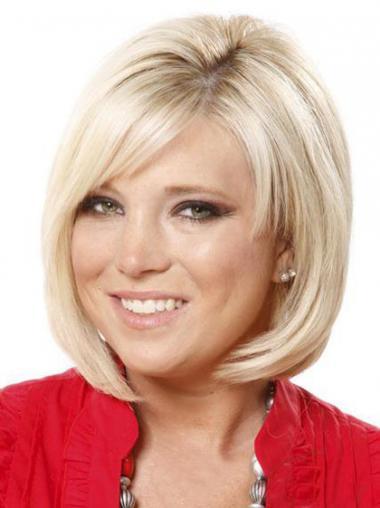 Blonde SyntheticStraight Fashionable Medium Wigs