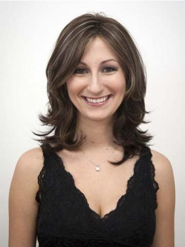Wavy Brown Layered Best Synthetic Wigs