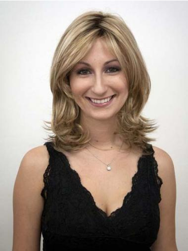 Layered Blonde Wavy Durable Synthetic Wigs