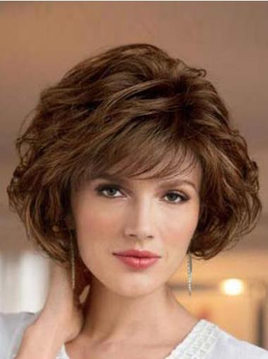 Brown Bobs Wavy Style Classic Wigs