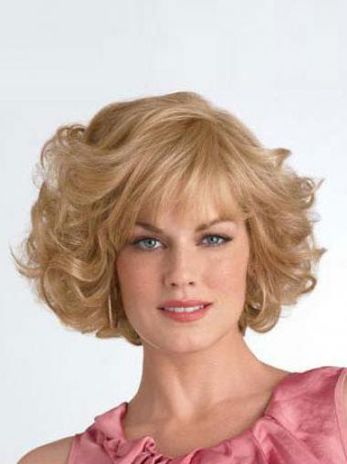 Curly Blonde Layered Ideal Synthetic Wigs