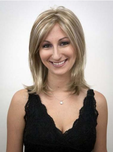 Blonde Straight Suitable Synthetic Wigs