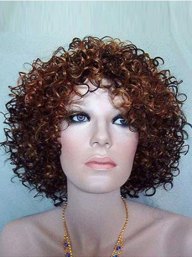 Auburn Afro Curly Fashionable Synthetic Wigs