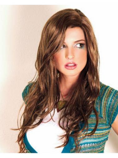 Brown Layered Suitable Synthetic Wigs