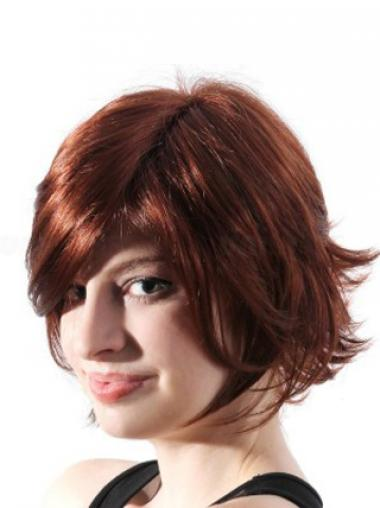 Auburn Layered Wavy Online Synthetic Wigs