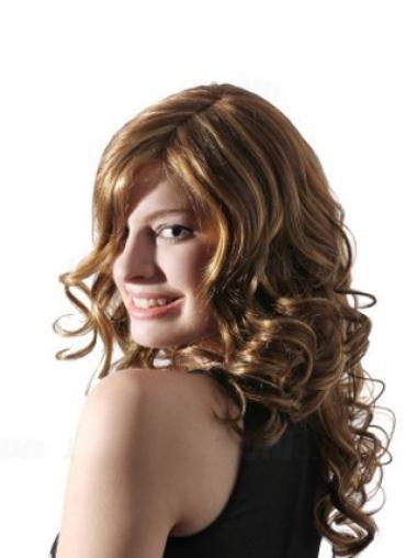 Cheap Blonde Lace Front Wavy Long Wigs