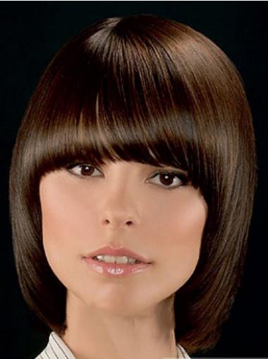Brown Bobs Chin Length Great Medium Wigs