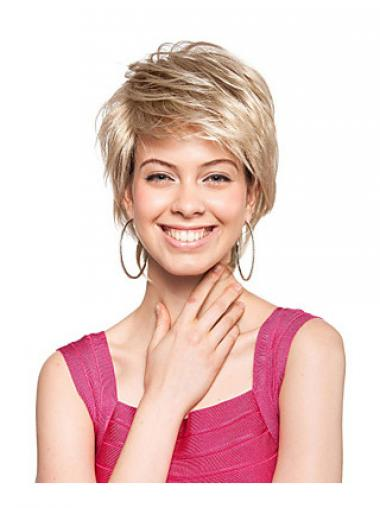 Blonde Boycuts Straight Gorgeous Synthetic Wigs