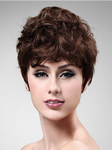 Auburn Boycuts Wavy Natural Synthetic Wigs