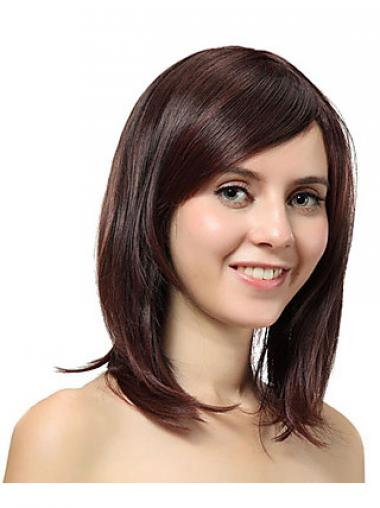 Straight Layered Auburn Convenient Synthetic Wigs