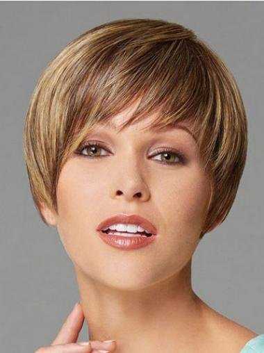 Straigh Blonde Boycuts Modern Synthetic Wigs