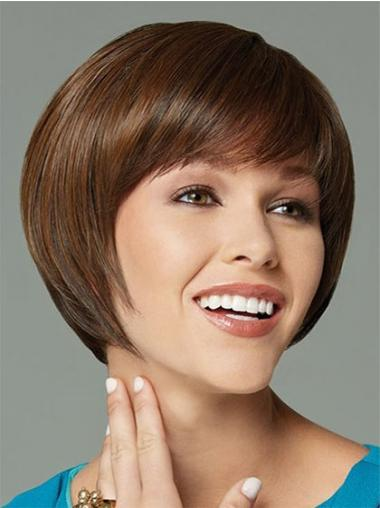 Bobs Straight Brown Good Synthetic Wigs