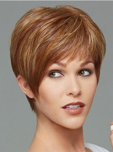 Brown Boycuts Straight Sassy Synthetic Wigs