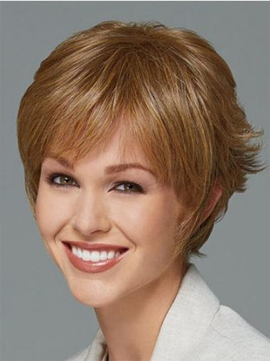 Blonde Boycuts Straight Great Synthetic Wigs