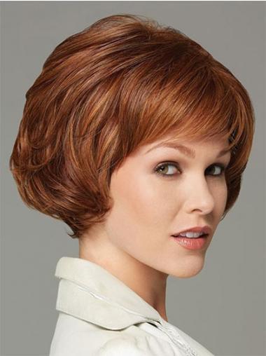 Wavy Auburn Bobs Gorgeous Classic Wigs