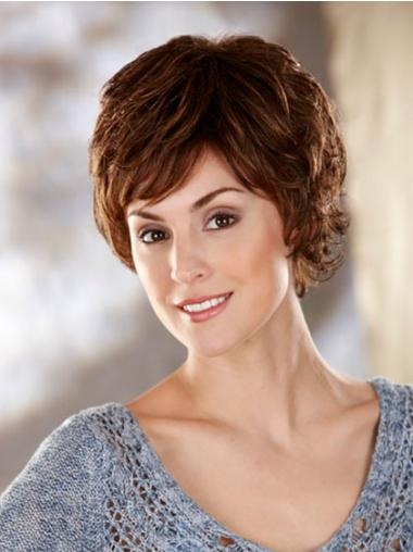 Wavy Brown Layered Good Classic Wigs