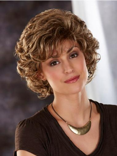 Brown Layered Wavy Style Classic Wigs