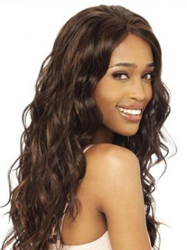 Long Indian Remy Hair Wavy Sleek Long Wigs